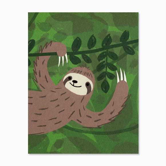 Mini-Klappkarte - Sloth