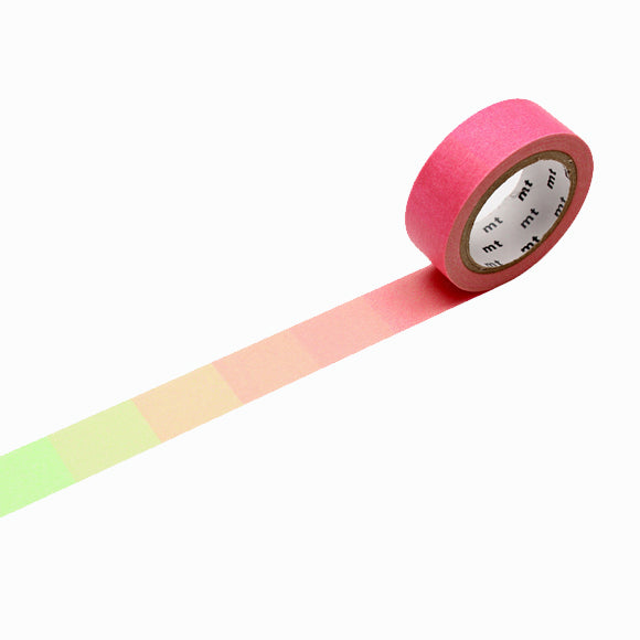 Masking Tape - mt fluorescent gradation pink x green