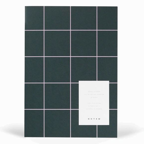 Kalender - MILO weekly planner book dark green