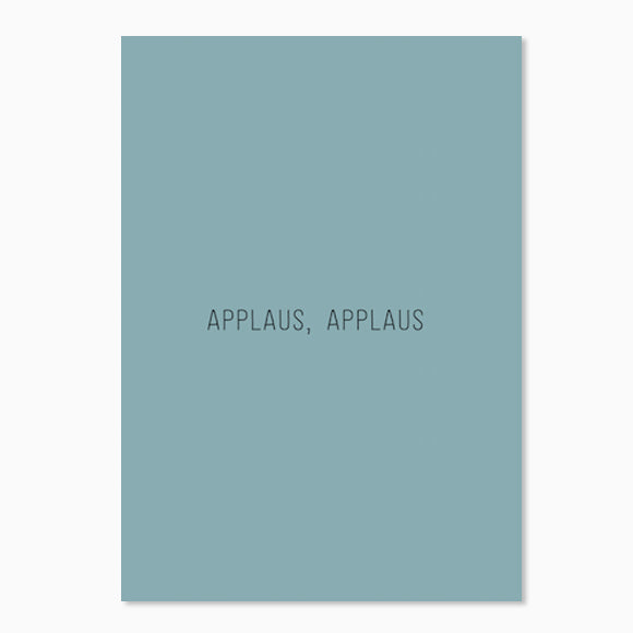 Postkarte - Applaus, Applaus