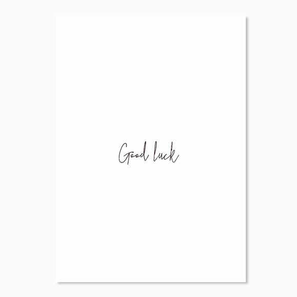 Postkarte - Good luck
