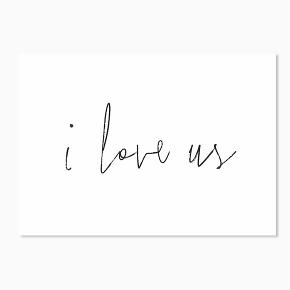 Postkarte - I love us
