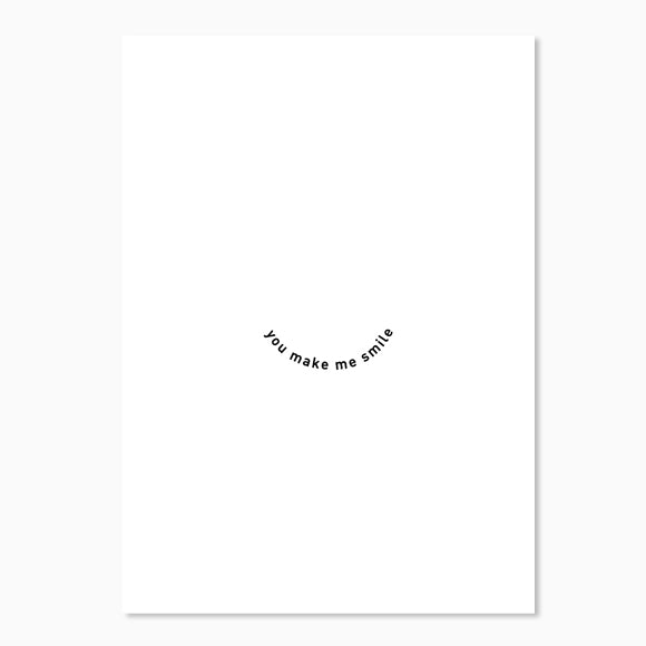 Postkarte - You make me smile