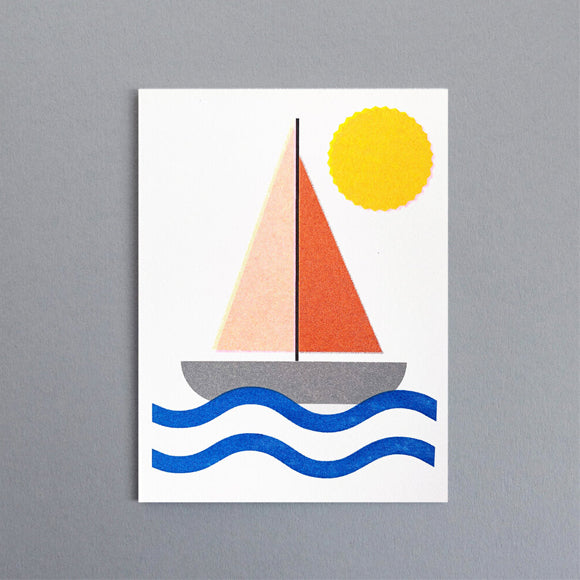 Mini-Klappkarte - Sailboat Mini Card