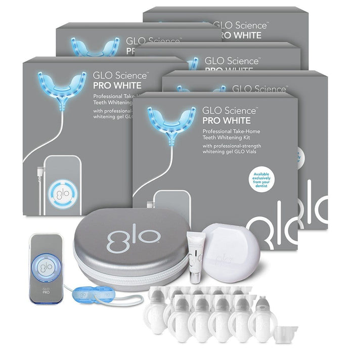 GLO Take Home Teeth Whitening Device Kit 10% HP - 6 Pack