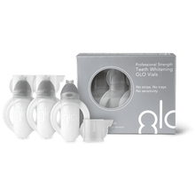 Load image into Gallery viewer, GLO Vials 3 Pack - 10% HP (case of 24 units packed in two countertop merchandiser displays)