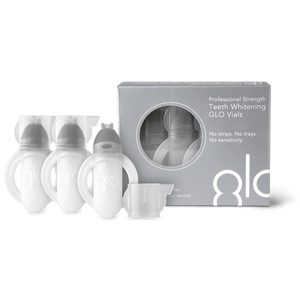 GLO Vials 3 Pack - 10% HP (case of 24 units packed in two countertop merchandiser displays)