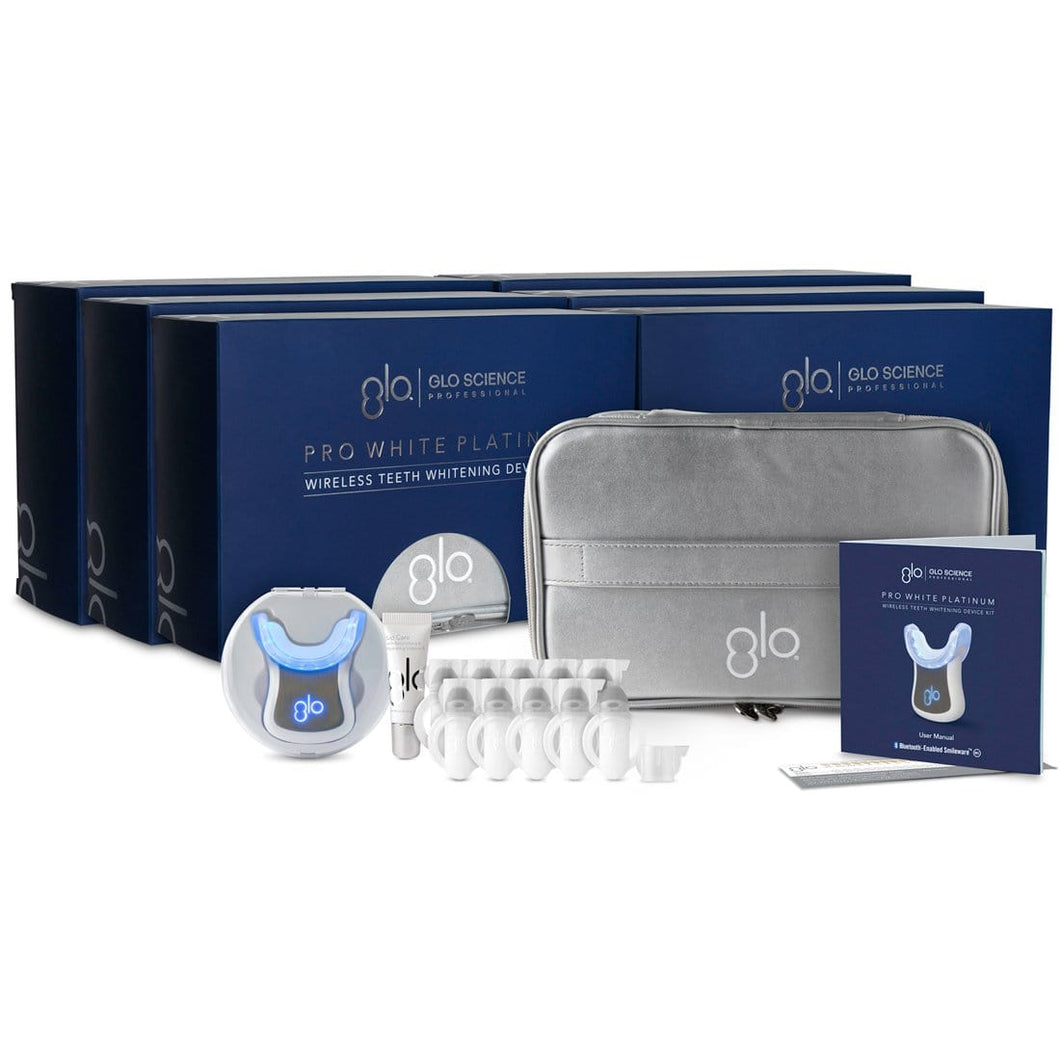 GLO Pro White Platinum Wireless Teeth Whitening Device Kit 10% HP - 6 Pack