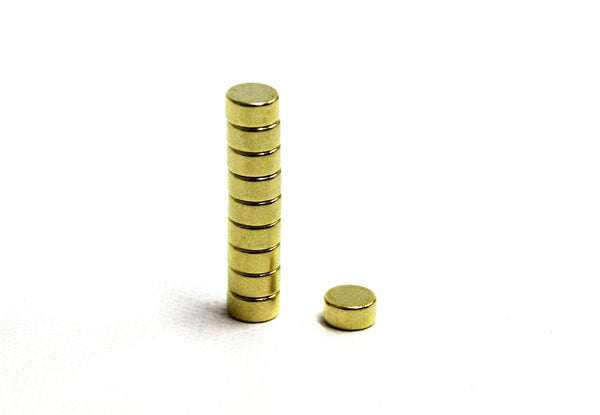 Disc Dia 6 x 3 mm N38 Gold