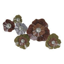 Charger l'image dans la galerie, Wall Decoration DKD Home Decor Coral Metal Shabby Chic Flowers