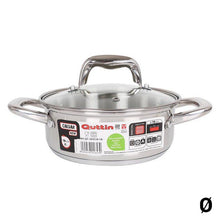 Charger l'image dans la galerie, Casserole Quttin New Caesar Stainless steel With lid