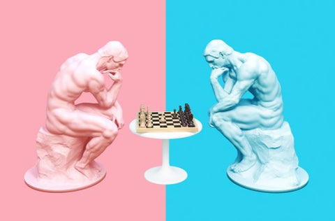 Thinkers Playing Chess