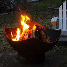 Load image into Gallery viewer, Fire Pit Art Manta Ray Handcrafted Carbon Steel Fire Pit (MR), Fireplace - Yardify.com