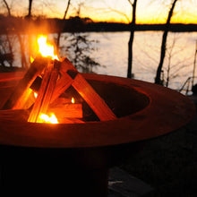 Load image into Gallery viewer, Fire Pit Art Saturn Handcrafted Carbon Steel Fire Pit (SAT), Fireplace - Yardify.com