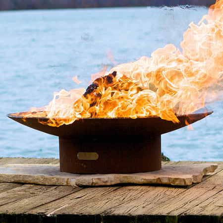 "Fire Pit Art Asia 36"" Fire Pit - AS 36 - Yardify.com"