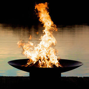 "Fire Pit Art Asia 48"" Handcrafted Carbon Steel Fire Pit (AS 48), Fireplace - Yardify.com"