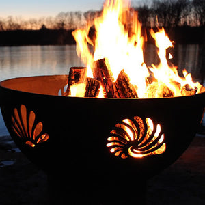 Fire Pit Art Beachcomber Handcrafted Carbon Steel Fire Pit (Beach), Fireplace - Yardify.com