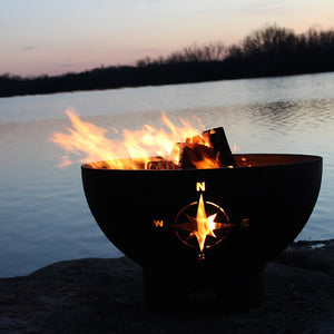 Fire Pit Art Navigator Handcrafted Carbon Steel Fire Pit (NAV), Fireplace - Yardify.com