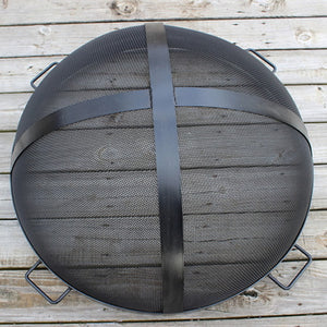 Fire Pit Art 34.5-Inch Outdoor Fire Pit Screen for Fireplace and Patio - SG-34.5, Fireplace - Yardify.com