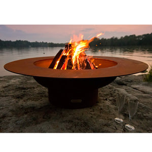 Fire Pit Art Magnum Handcrafted Carbon Steel Fire Pit (MAG), Fireplace - Yardify.com