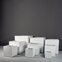 "Load image into Gallery viewer, Jay Scotts Montroy Cube Square Fiberglass Planter: 12""L x 12""W x 12""H"