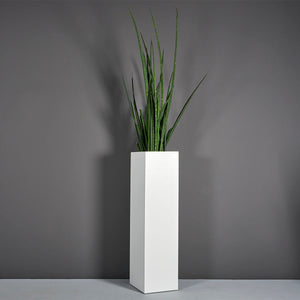 "Jay Scotts Britz Tall Tapered Square Fiberglass Planter: 8""L x 8""W x 42""H"