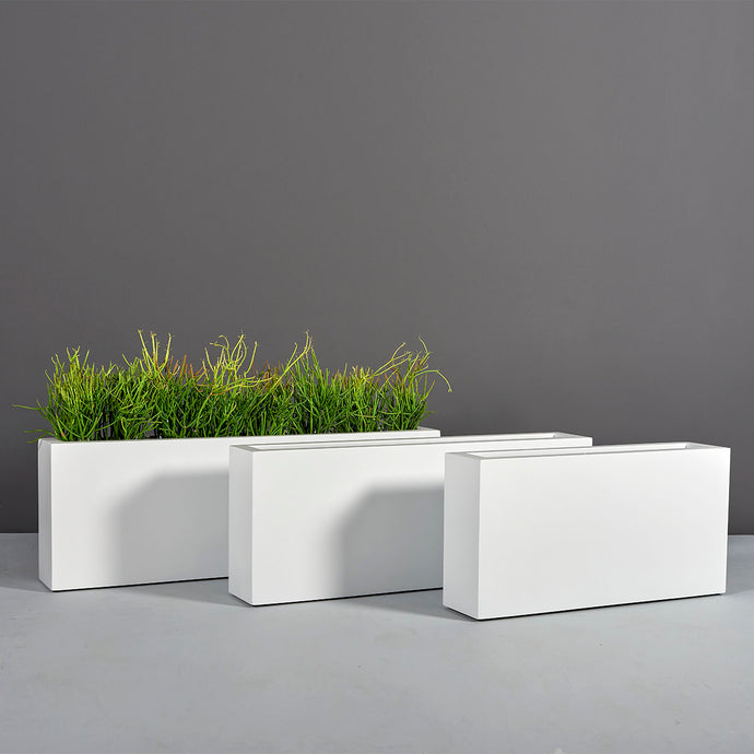 Camoux Rectangular Fiberglass Planter Box: 36