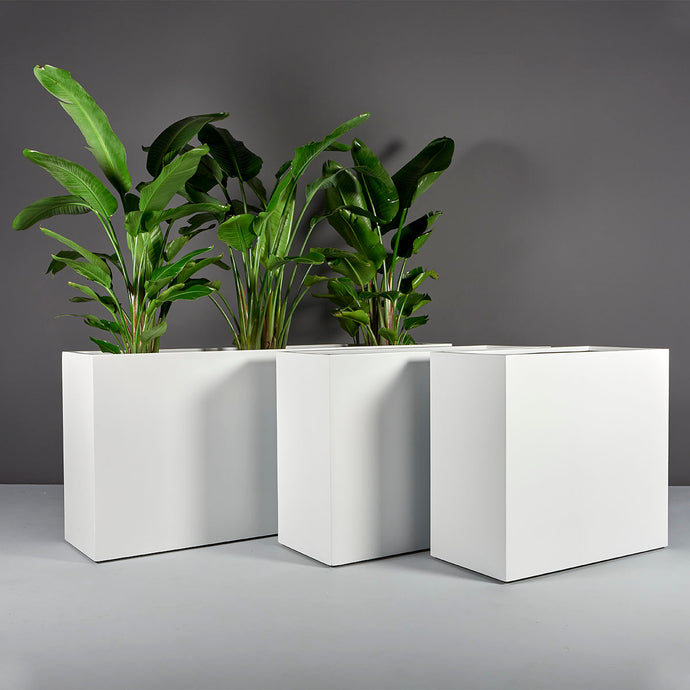 Potsdam Rectangular Fiberglass Planter Box: 72