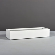 "Load image into Gallery viewer, Bonn Rectangular Fiberglass Planter Box: 45""L x 15""W x 8""H"