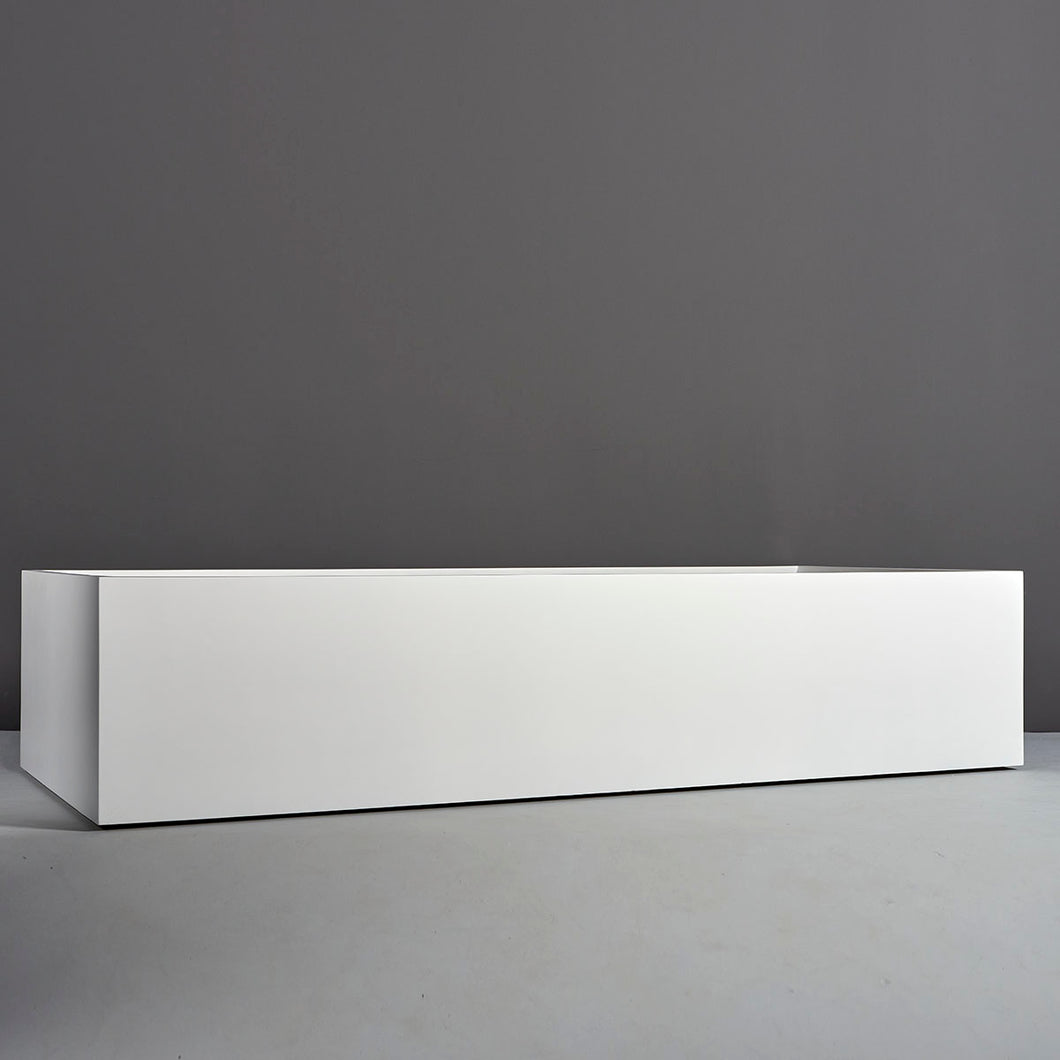 Selenge Rectangular Fiberglass Planter Box: 84
