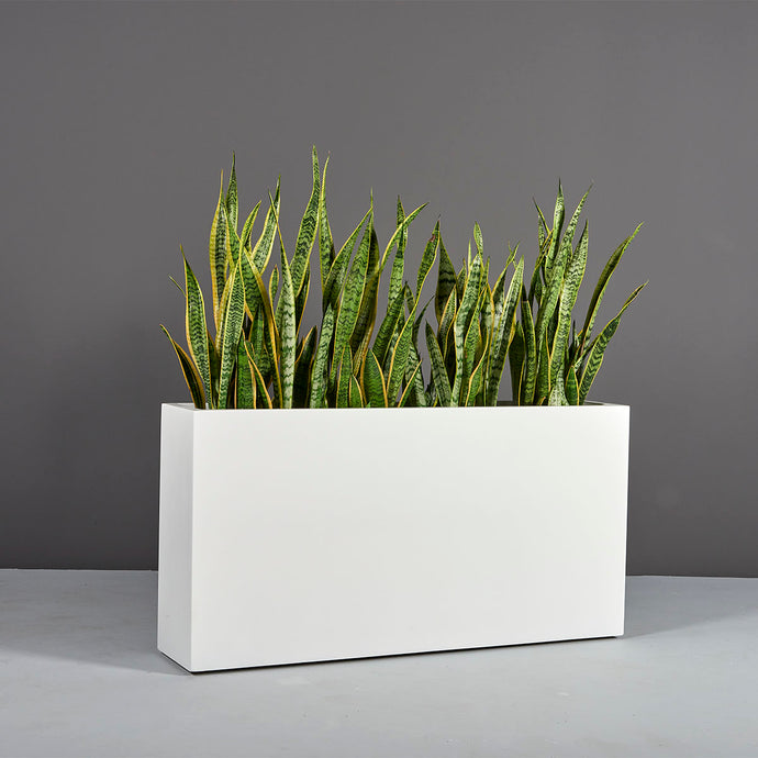 Milano Rectangular Fiberglass Planter Box: 36