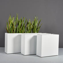 "Load image into Gallery viewer, Milano Rectangular Fiberglass Planter Box: 36""L x 10""W x 24""H"