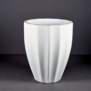 "Jay Scotts Alicante Ribbed Round Planter: 15"" x 21""H"
