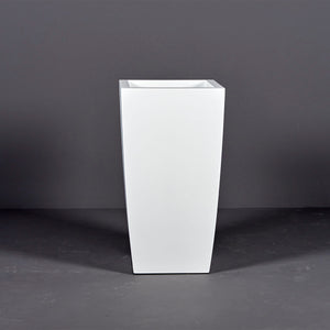 "Jay Scotts Toulan Tall Tapered Square Fiberglass Planter: 18""L x 18""W x 36""H"