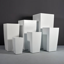 "Load image into Gallery viewer, Jay Scotts Toulan Tall Tapered Square Fiberglass Planter: 18""L x 18""W x 36""H"