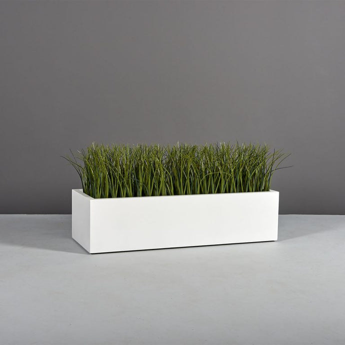 Lyon Rectangular Fiberglass Planter Box: 48