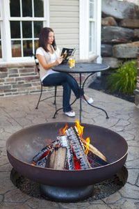 Ohio Flame Liberty Fire Pit with Curved Base, Fireplace - Yardify.com
