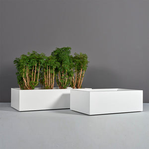 "Antwerp Rectangular Fiberglass Planter Box: 48""L x 24""W x 12""H"