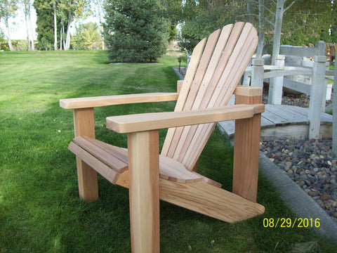 Wood Country Western Red Cedar Wood Handcrafted Adirondack Chair