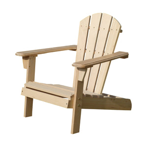 Unfinished Wooden Kid's Adirondack Chair Kit, Chair - Yardify.com