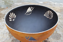Load image into Gallery viewer, Fire Pit Art Beachcomber Handcrafted Carbon Steel Fire Pit (Beach), Fireplace - Yardify.com
