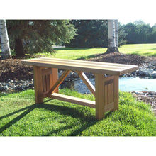 "Cedar Wood Cabbage Hill 4 feet Flat Bench 48""L x 13""W x17""H, Bench - Yardify.com"