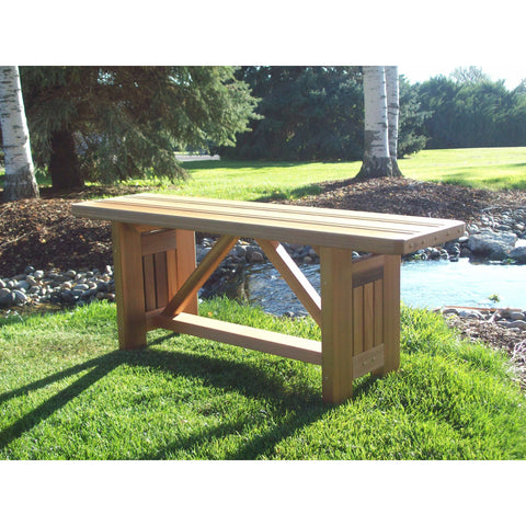 "Cabbage Hill 4' Flat Bench 48""L x 13""W x17""H"