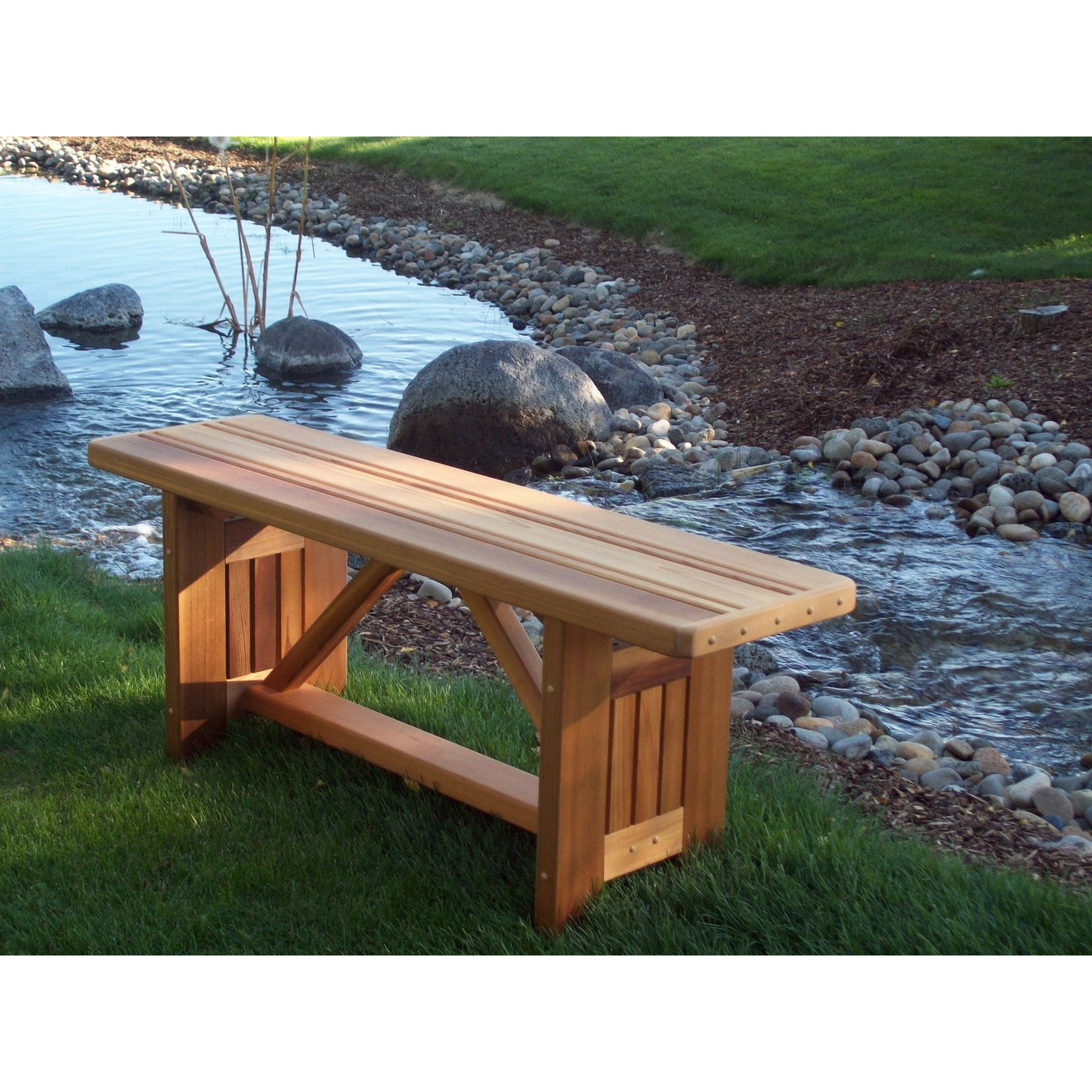 Cedar Wood Cabbage Hill 4 feet Flat Bench 48