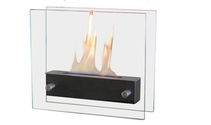 Nu-Flame Irradia Black Noir Personal Tabletop Ethanol Fireplace (NF-T2BIRA), Fireplace - Yardify.com