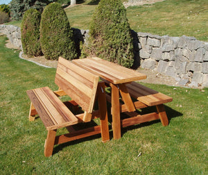 Herman Wooden Convertible Table Set with Bench – Yardify.com