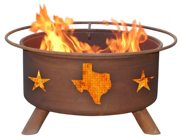 Texas State & Stars Fire Pit, Fireplace - Yardify.com
