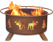Load image into Gallery viewer, Moose & Trees Fire Pit, Fireplace - Yardify.com
