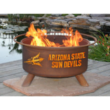 Load image into Gallery viewer, Collegiate Arizona State University Logo Steel Wood and Charcoal Fire Pit, Fireplace - Yardify.com