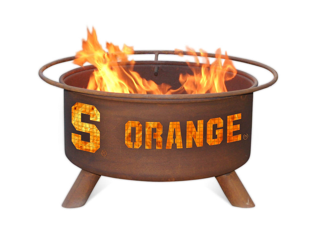 Collegiate Syracuse State Logo Fire Pit, Fireplace - Yardify.com